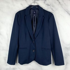 GAP Structured Soft Knit Business Blazer Jacket 14